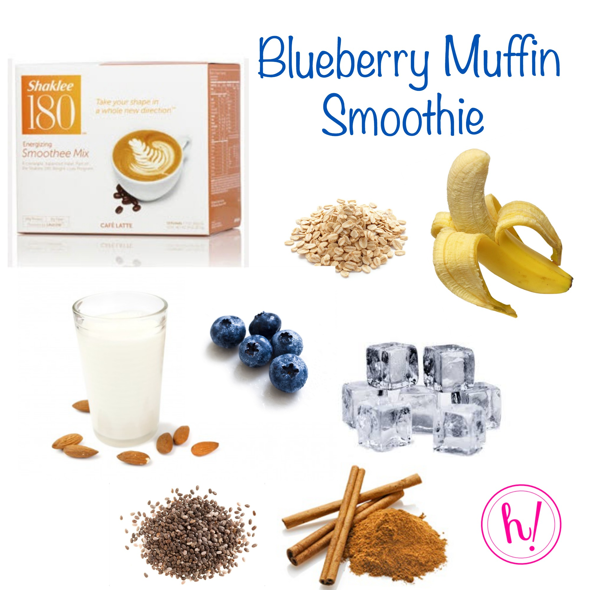 Healthy Blueberry Muffin meal smoothie from Hurray Kimmay