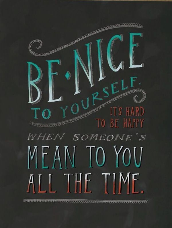 Be nice to yourself and why I don't own a scale - via Hurray Kimmay