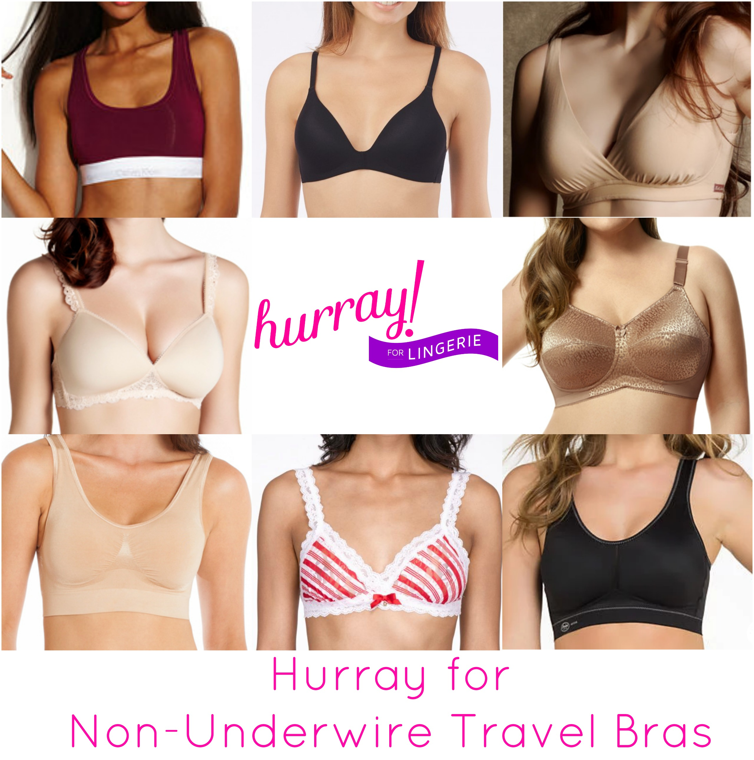 Hurray for non underwire travel bras by Hurray Kimmay