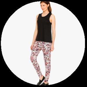 Newkirk Tank_Black_Cortelyou Jogger Pants_Digital Floral Print_Alexis Mera_3