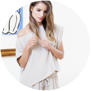 Olga Bateau Top and Ashley Pajama Short_Nude_Alessandra Mackenzie