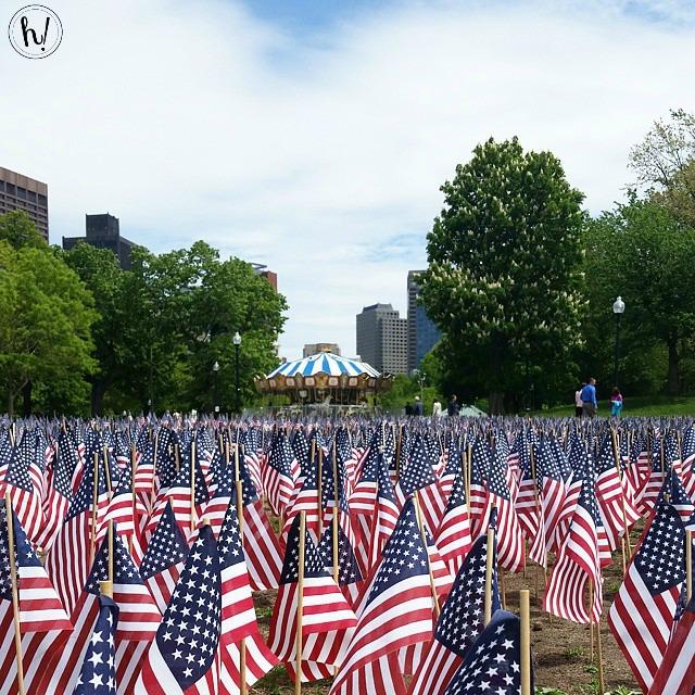 Flags at Boston Common Memorial Day Hurray Kimmay