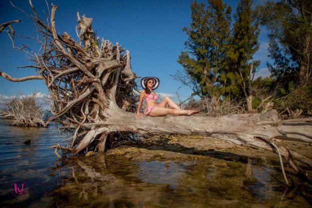 Kimmay of Hurray Kimmay, wearing Cleo by Panache swimwear. Photo by Around Digital Media
