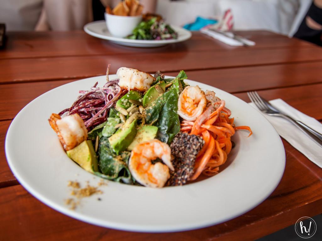 Hurray vacay food-shrimp salad from The Real Coconut