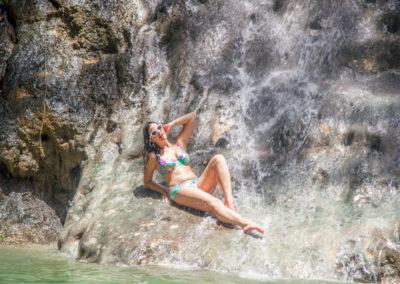 Kimmay in waterfall 2