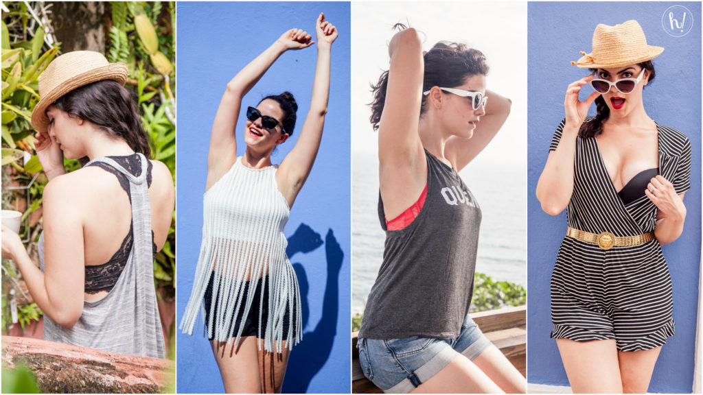 Kimmay wearing different outfits and bras in new blog post on Hurray Kimmay