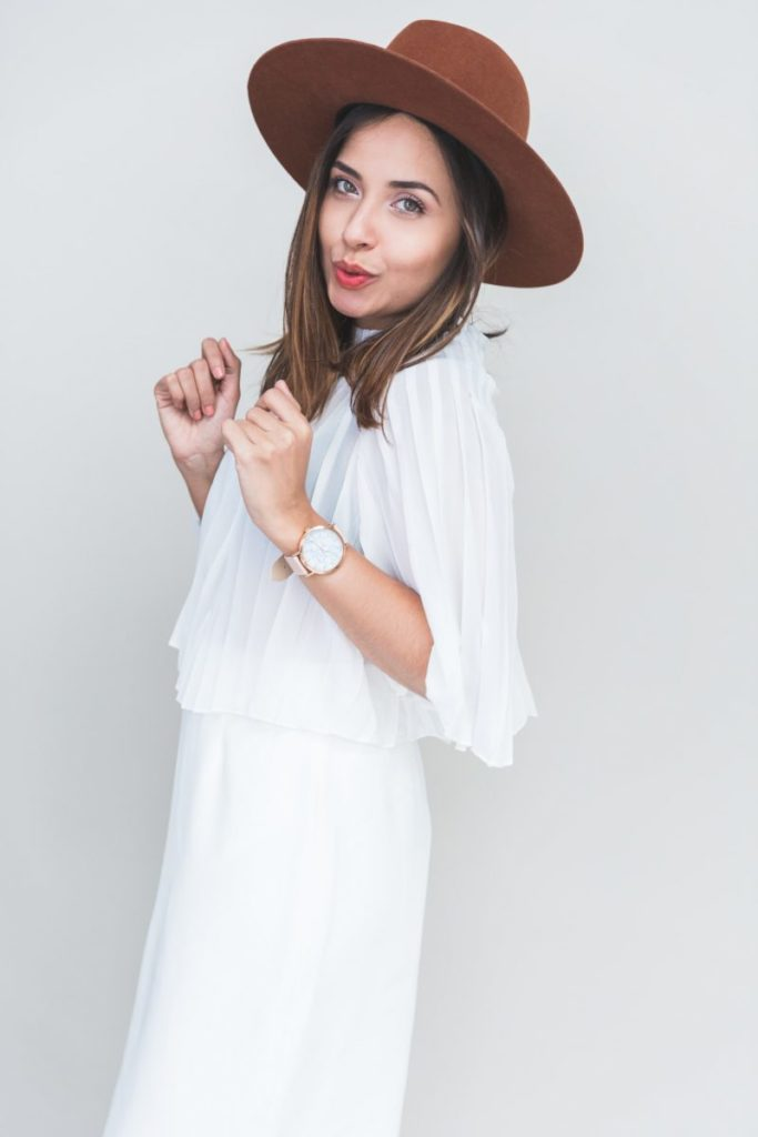 Lisa from Style Theory wearing luna hat, interview with Hurray Kimmay