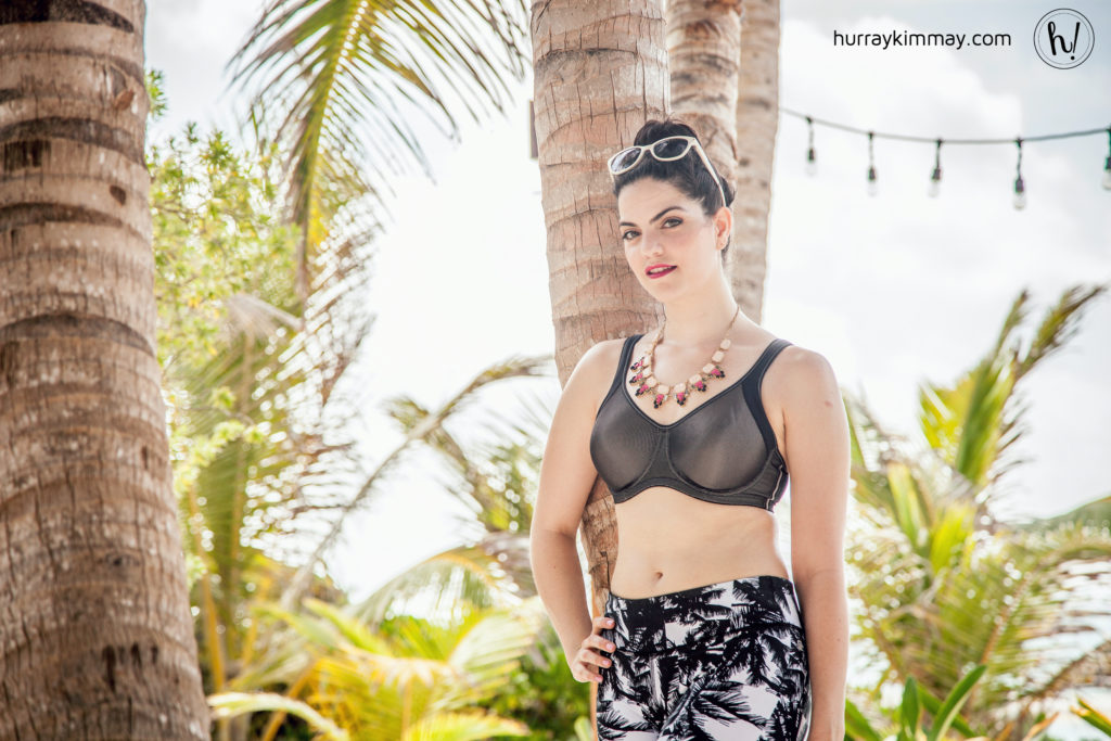 Kimmay wearing black Anita sports bra, Hurray Kimmay Work to Work out blog