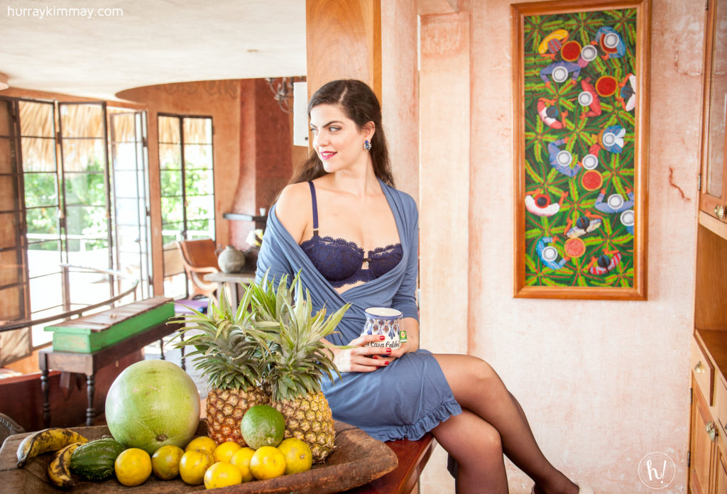 Kimmay wearing montelle bra and fleurt robe in Hurray Kimmay gifts to your body blog