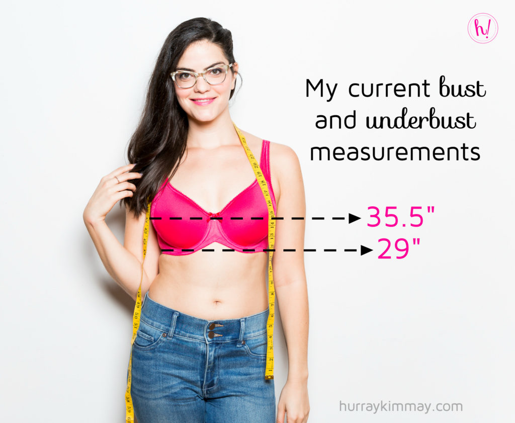 Use our bra size chart and measuring guide which provides the following simple three-step process: 1) Determine your band size by measuring the under bust 2) Learn your bust size by measuring where the bust is at its fullest.