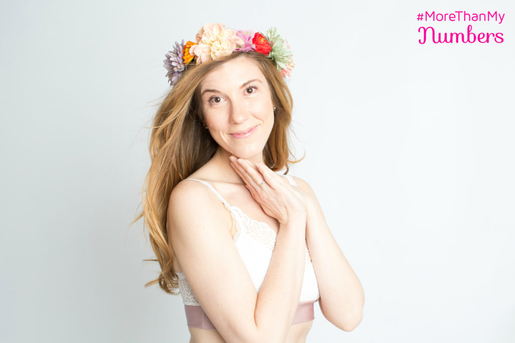 Brooke in flower crown MTMN, wearing harMonica