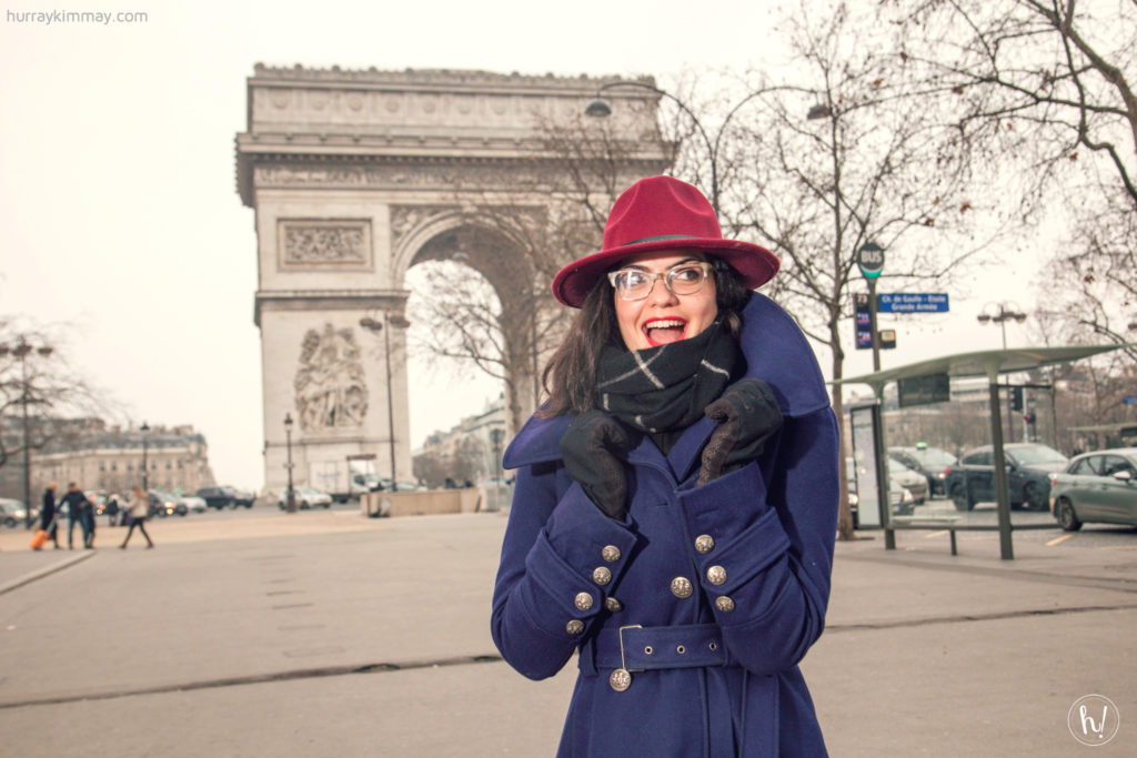 Kimmay at l'arc de triomphe Paris, Date Yourself HK blog