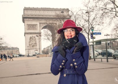 Kimmay at l'arc de triomphe Paris Date Yourself HK blog