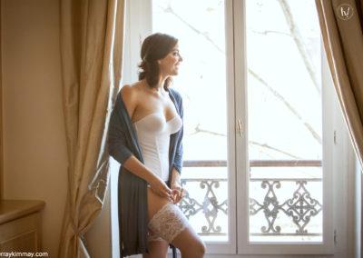 Kimmay wearing longline bra in Paris Hurray Kimmay Blog