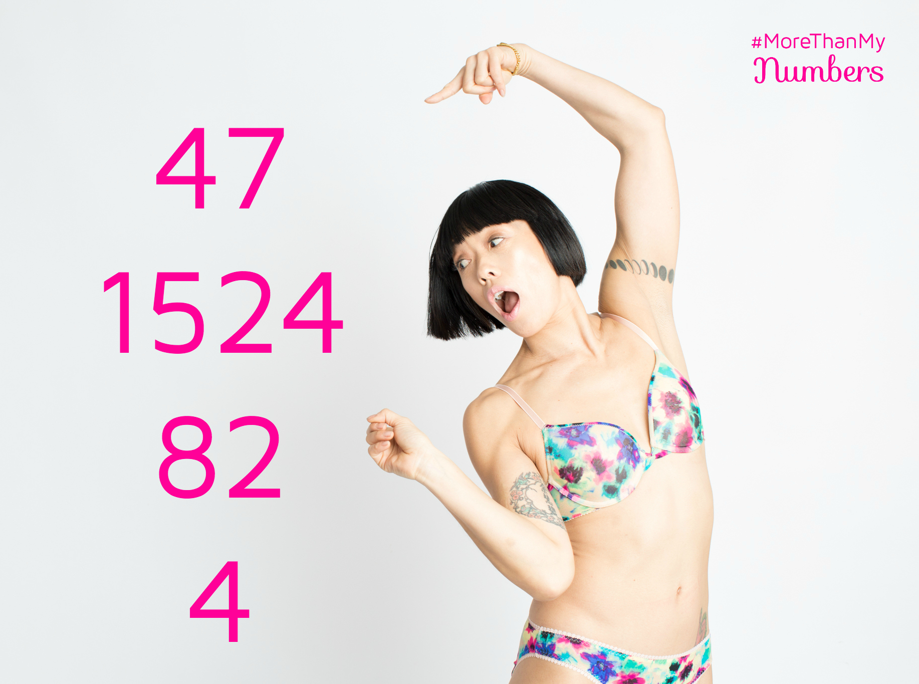 Becky and her numbers in More Than My Numbers Campaign