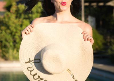 Hurray Kimmay hat and sunglasses blush underwear