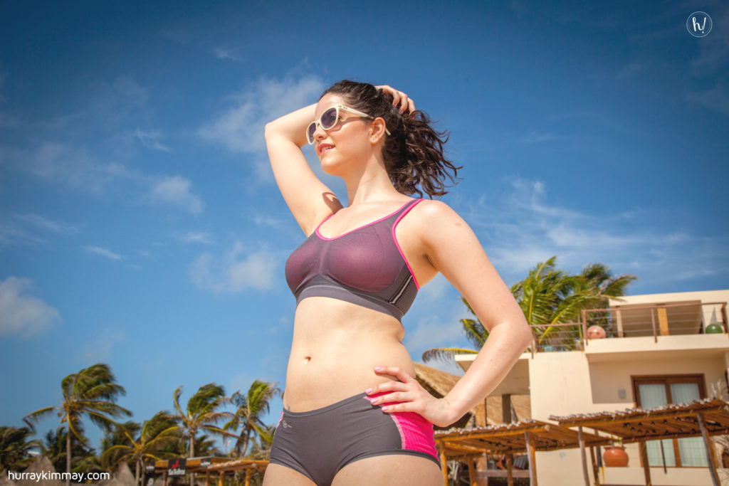 Kimmay wearing Anita sports bra in learn to love your stomach blog