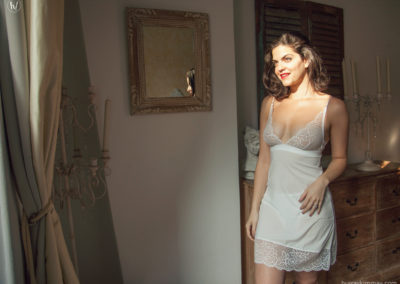 Kimmay in wedding lingerie 2
