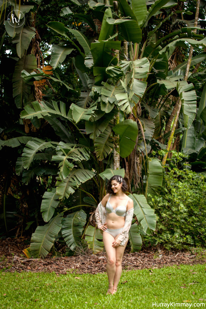 Kimmay gives tips on how to find a silver lining, here Kimmay is in Hawaii in LeMystere Lingerie