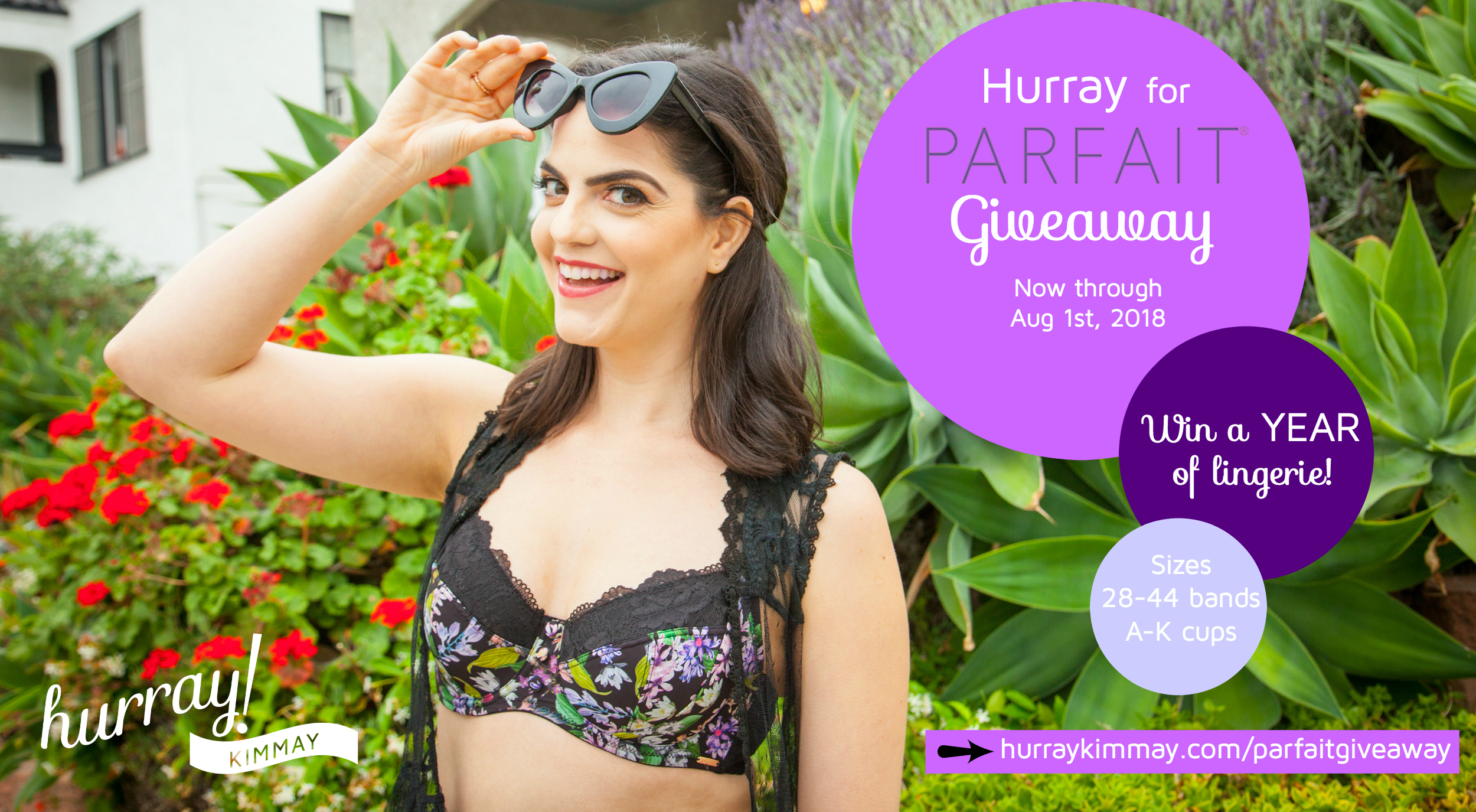 Enter to ein the Hurray for Parfait Giveaway today and win a year of lingerie!