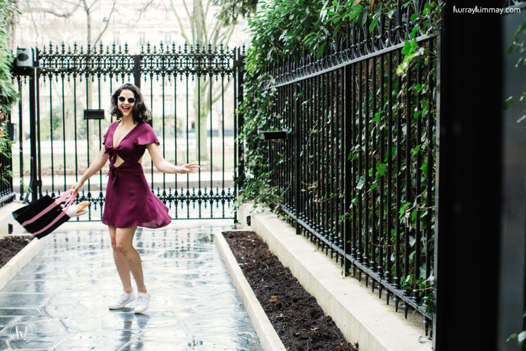 Kimmay finds freedom in wearing the Lace Underwire NuBra while spinning in Paris
