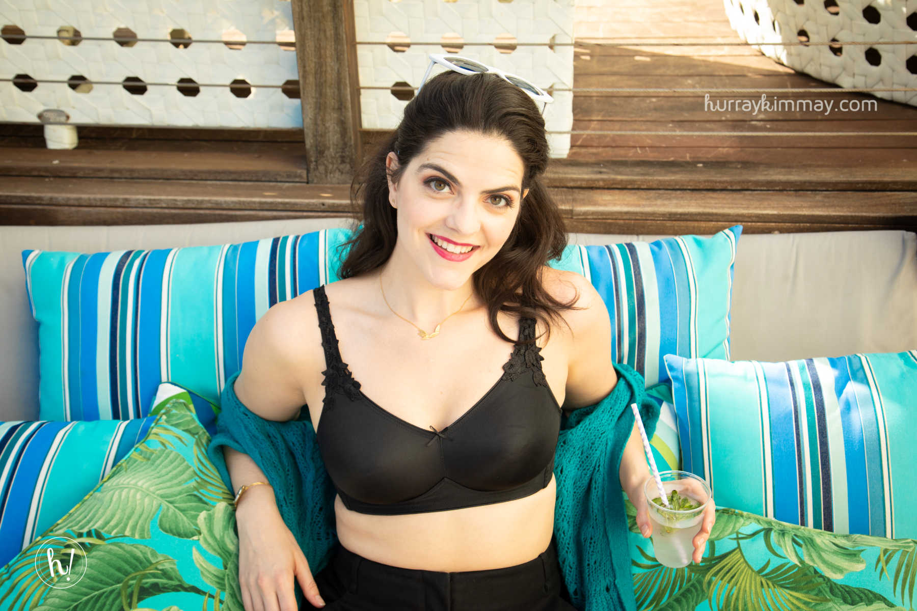 Kimmay enjoying the sun on the #HurrayVacay in Miami wearing the Dominique Jillian Wire-Free Bra
