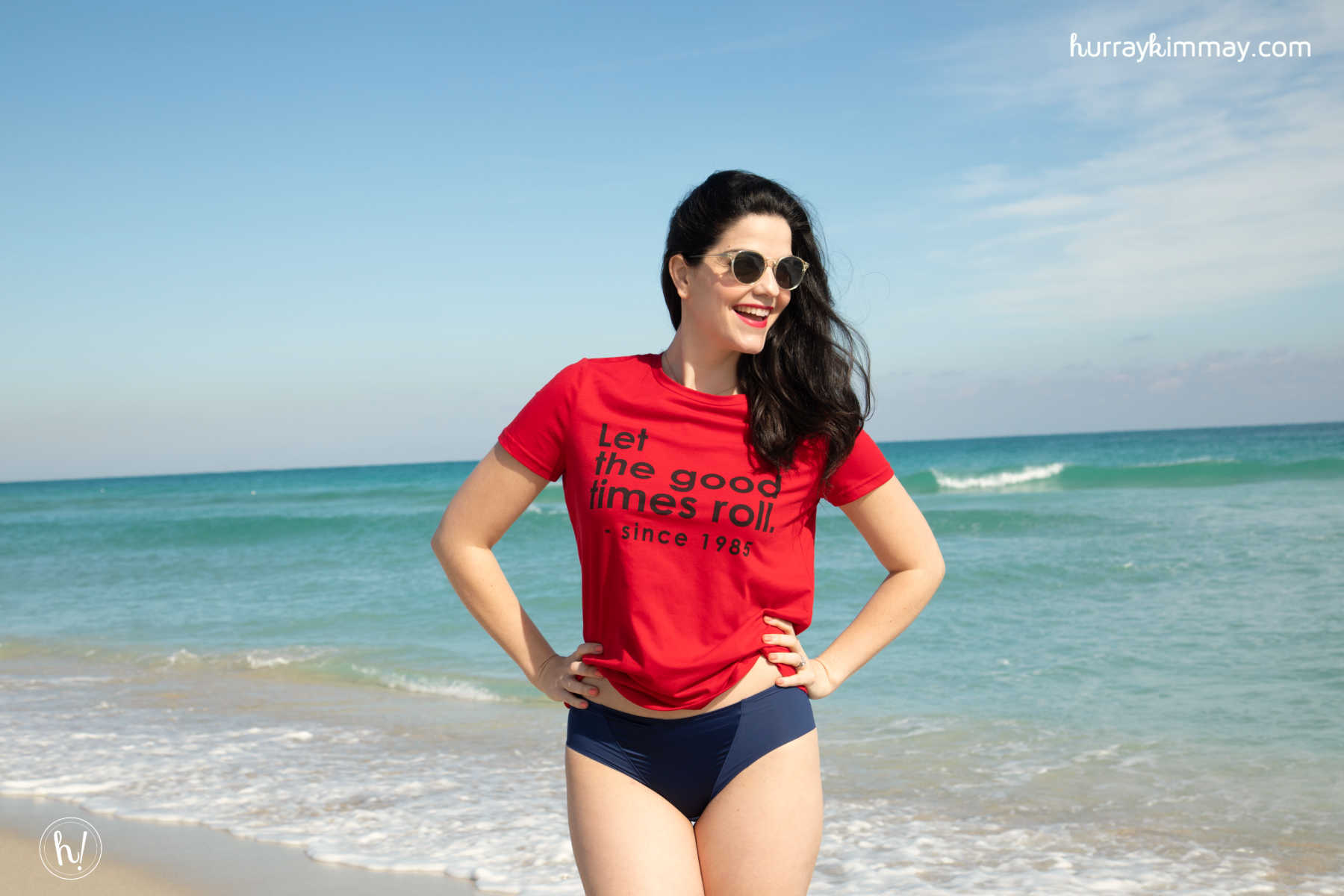Kimmay wearing the Mystique Underwire Bra from Dominique during the #HurrayVacay in Miami!