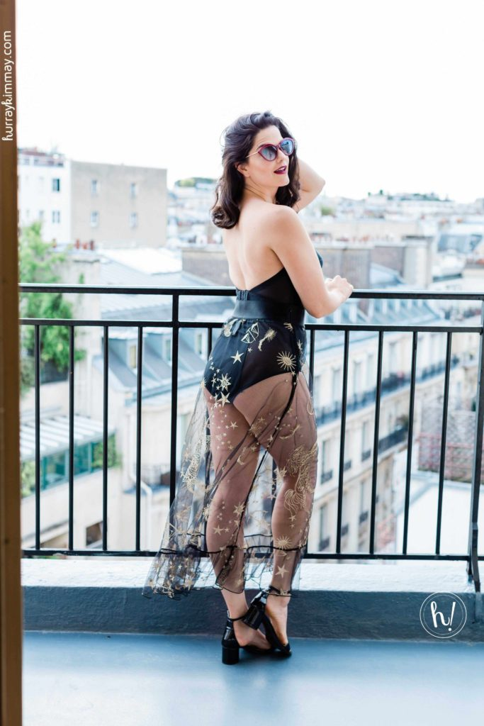 Kimmay wears Thinx and Dominique in Paris in this Hurray Kimmay blog about Summoning Your Inner Superhero