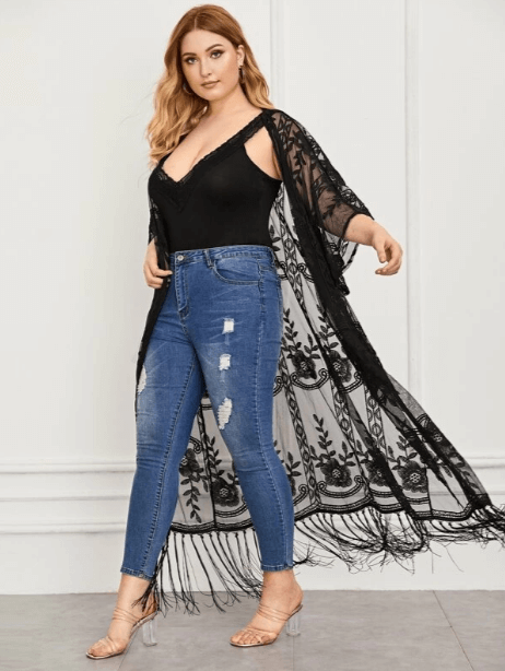 Kimmay shares some favorite robes to wear indoors and out & about on the Hurray Kimmay blog including this mesh kimono from Shein for when you want a dramatic flair!