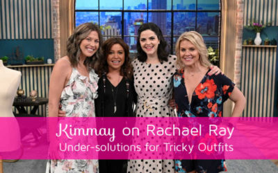 Kimmay on Rachael Ray – Low back, plunge, and armhole bras